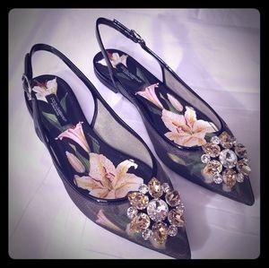 Dolce & Gabbana Slingback Flats - NWOB